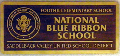 Foothill Ranch Elementary - National Blue Ribbon School